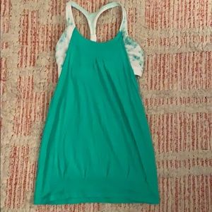Green LULULEMON Sports Bra Tank Top Size 4